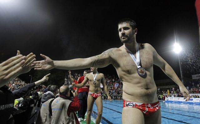 LEN Champions league waterpolo game between Jug Croatia Osiguranje and Crvena Zvezda