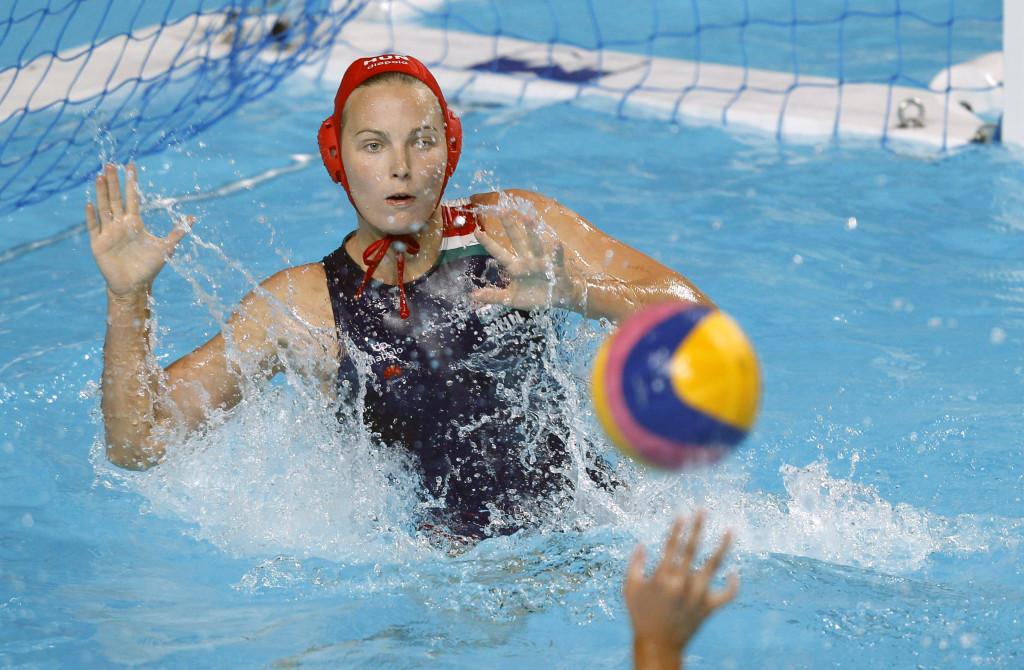 Kazany, 2015. július 26. Bolonyai Flóra kapus a kazanyi vizes világbajnokság nõi vízilabdatornájának nyitófordulójában játszott Magyarország - Kína mérkõzésen 2015. július 26-án. MTI Fotó: Kovács Anikó