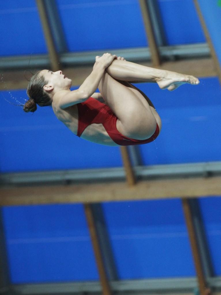 Kazany, 2015. július 31. Gondos Flóra a nõi 3 méteres mûugrás selejtezõjében a kazanyi vizes világbajnokságon 2015. július 31-én. MTI Fotó: Kovács Anikó