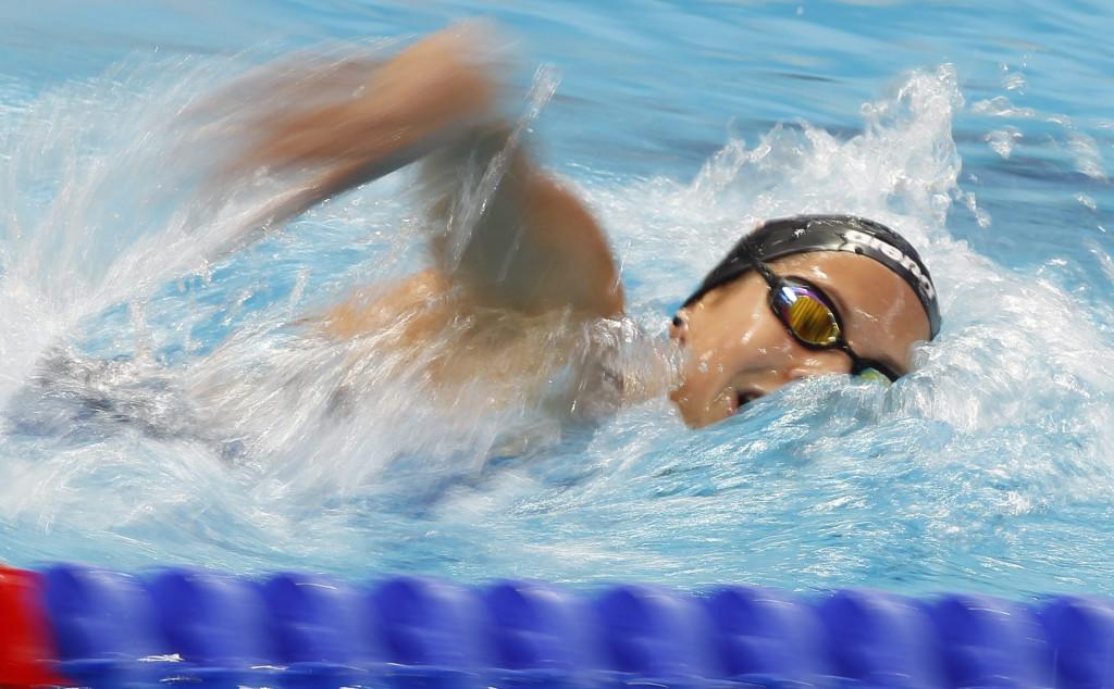 Kazany, 2015. augusztus 3. Kapás Boglárka az 1500 méteres gyorsúszás elõfutamában a kazanyi vizes világbajnokságon 2015. augusztus 3-án. MTI Fotó: Kovács Anikó