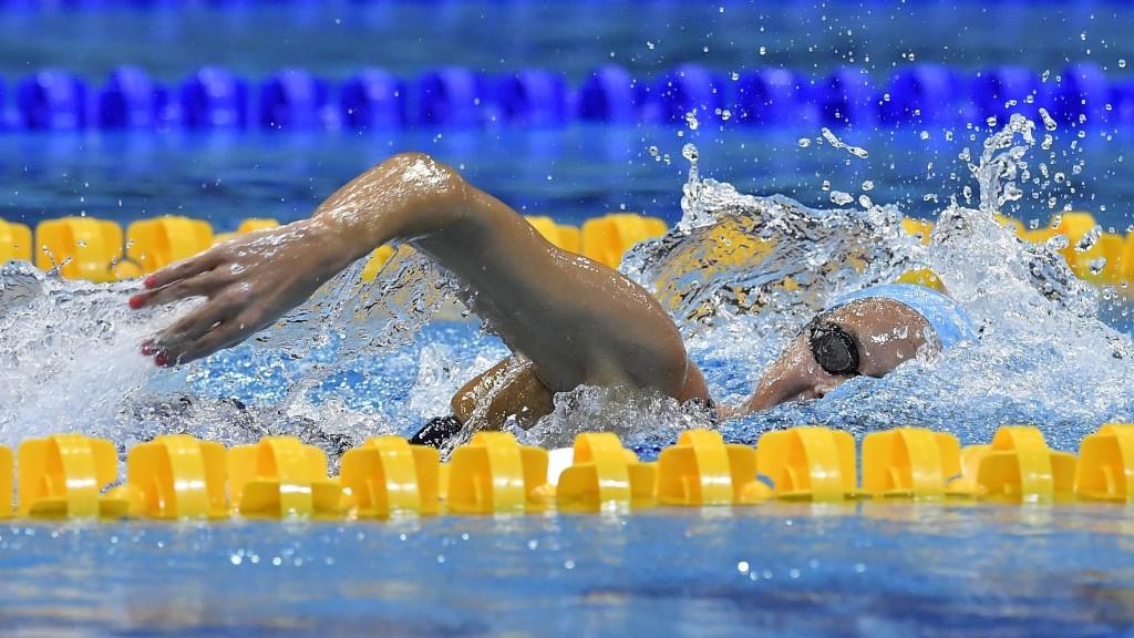 Debrecen, 2017. április 19. Kapás Boglárka az 1500 méteres gyorsúszás döntõjében az úszók országos bajnokságán a Debreceni Sportuszodában 2017. április 19-én. MTI Fotó: Czeglédi Zsolt