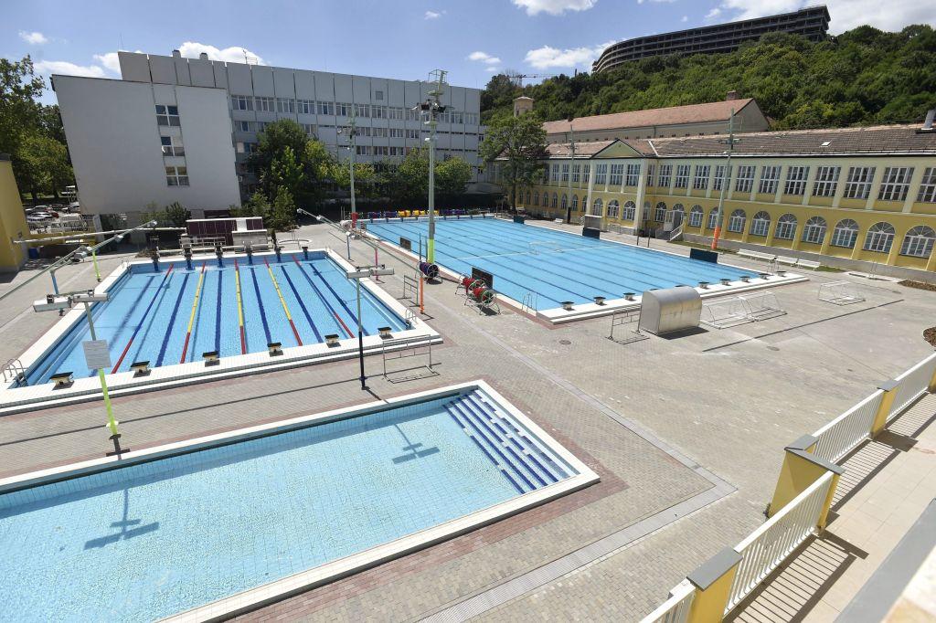 Budapest, 2017. július 13. A 2017-es FINA vizes világbajnokság egyik edzõhelyszíne, a felújított Császár-Komjádi Sportuszoda kültéri medencéi az átadás napján, 2017. július 13-án. MTI Fotó: Máthé Zoltán