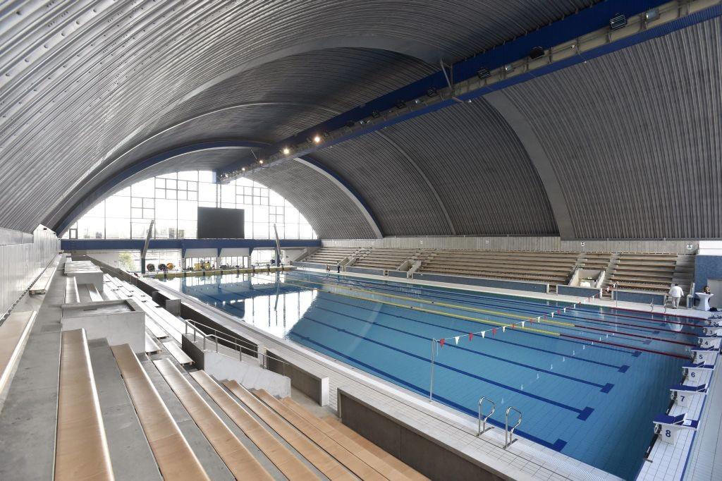 Budapest, 2017. július 13. A 2017-es FINA vizes világbajnokság egyik edzõhelyszíne, a felújított Császár-Komjádi Sportuszoda medencéje az átadás napján, 2017. július 13-án. MTI Fotó: Máthé Zoltán