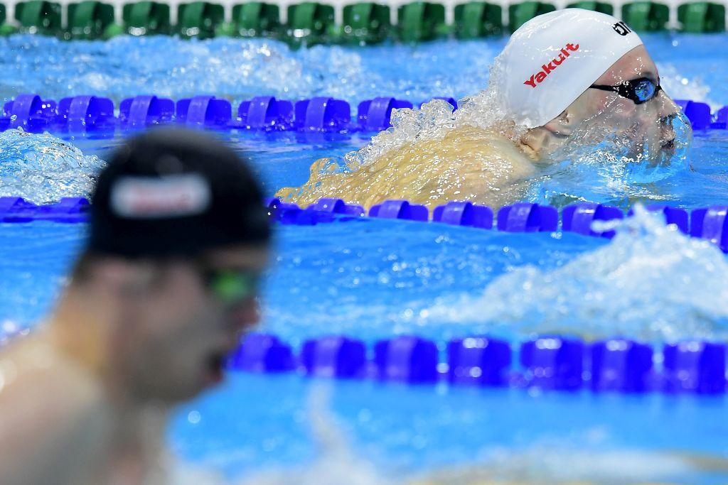 Budapest, 2017. július 26. Sós Dániel a férfi 200 méteres vegyesúszás elõfutamában a 17. vizes világbajnokságon a Duna Arénában 2017. július 26-án. MTI Fotó: Kovács Tamás