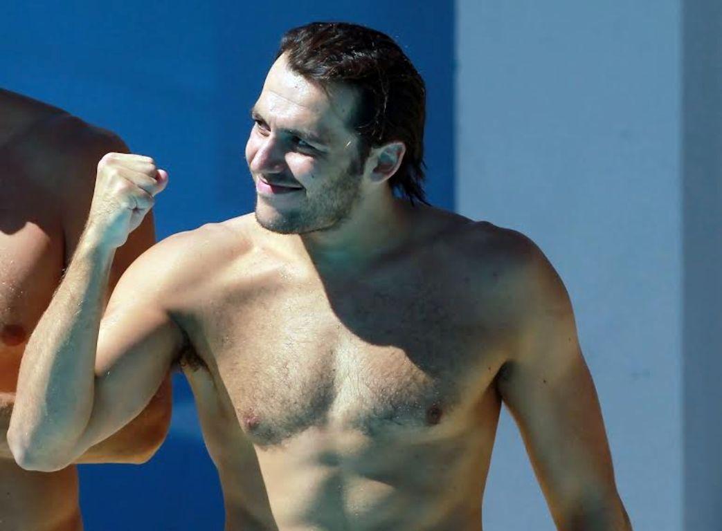 Barcelona, 2013. július 30.Gór-Nagy Miklós a barcelonai vizes világbajnokság férfi vízilabdatornájának negyeddöntőjében játszott Magyarország - Görögország mérkőzés után 2013. július 30-án. A magyar férfi vízilabda-válogatott bejutott az elődöntőbe, miután 9-3-ra győzött.MTI Fotó: Kovács Anikó