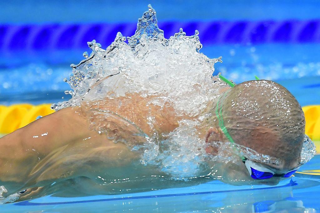 Budapest, 2017. július 25. Cseh László a férfi 200 méteres pillangóúszás elõdöntõjében a 17. vizes világbajnokságon a Duna Arénában 2017. július 25-én. MTI Fotó: Kovács Tamás